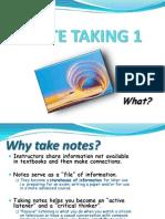 Notetaking study skill