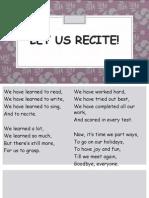 Let Us Recite! Bye