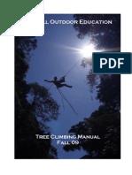 Tree Climbing Manual Fa 09
