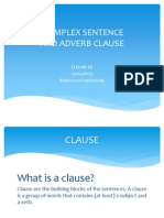 Adverb Clause and Complex Sentence