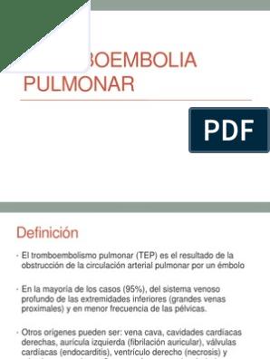 De pdf definicion tromboembolia pulmonar
