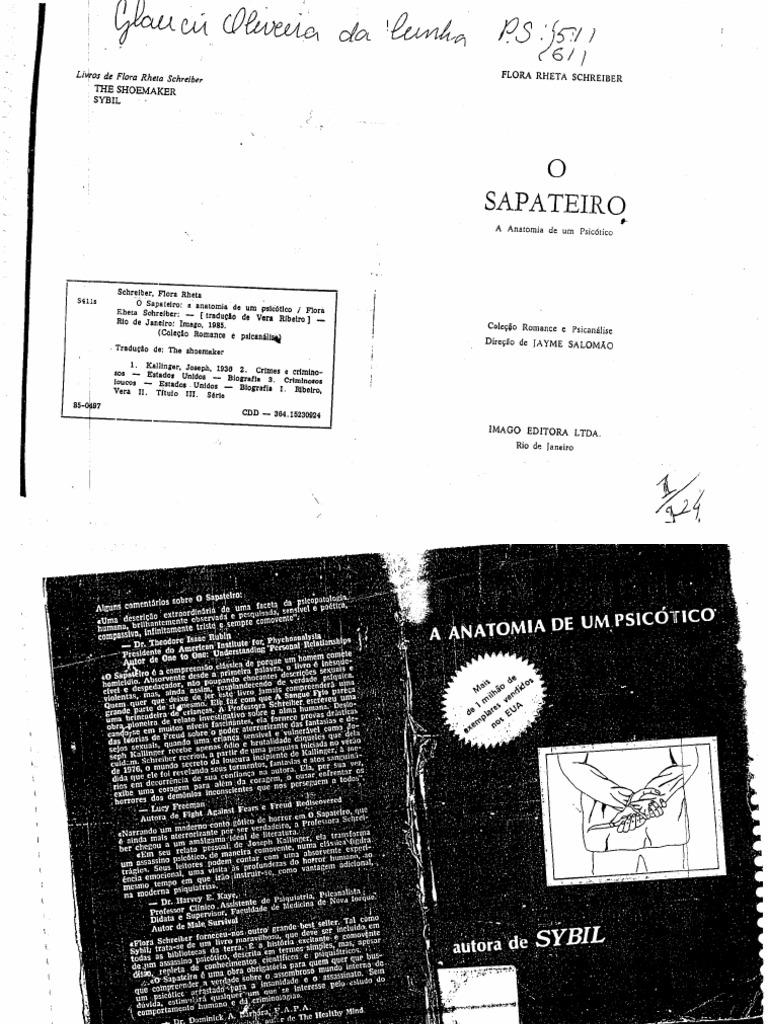 9748987f6 Livro- o Sapateiro