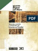 Los Apuntes Etnologicos de Karl Marx