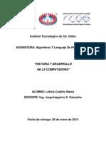 Leticia Castillo Sáenz, Historia y Desarrollo de La Computadora