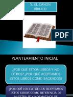 5. El Canon Biblico