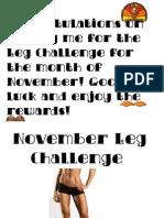 November Leg Challenge