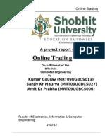 aprojectreportononlinetrading-130321015415-phpapp01