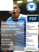 Deaf Friendly Football with Peterborough United 2014-15