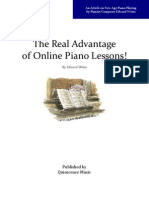 Piano Lessons - The Advantage of Learning Online!