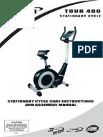 Trojan Tour 400 Stationary Exercise Bike Manual