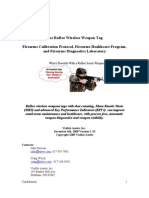 The RuBee Wireless Weapon Tag Firearms Calibration Protocol, Firearms Healthcare