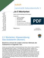Deutsch+Grammatik+5+Wortarten+Beispielseiten+inkl.+Kommentaren.ppt