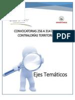 EJES TEMATICOS CONTRALORIAS