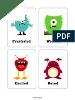 Monster Emotion Cards Printable