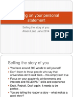 Personal Statements - Selling the Story of You (AJL)