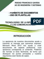 - Formato de Documentos - Uso de Plantillas (1)