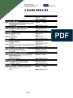 Relación Libros Curso 2014-15
