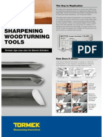 Sharpening woodturning tools