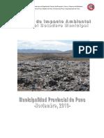 Estudio de Impacto Ambiental Del Botadero_Puno