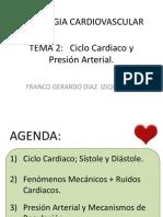 2. Ciclo Cardiaco y Presion Arterial