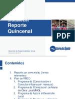 Reporte 2da Quincena - Junio 2014