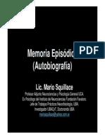 Lic. Mario Squillace - Memoria Episódica