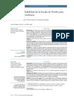 Validez y Confiabilidad Del Test Tinetti en Poblacion Colombiana