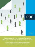 Adultos y Adolescentes en Facebook. Leer Introducción y Resumen Ejecutivo