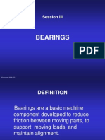 Session III Bearings
