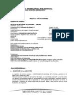 Silabo Cocina Ecuatoriana II 2014-2015
