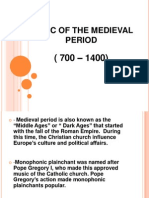 Music of the Medieval Period ( Music 9 Ppt )