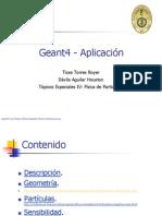 Geant4 - Aplicación
