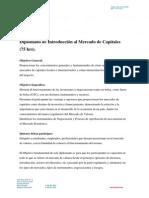 Diplomado Introducción Al Mercado de Capitales