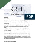 Introduction GST