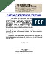 Carta de Referencia Personal Doris Correa