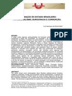 A Formação Do Estado Brasileiro - Corrupção Burocracia e Patrimonialismo