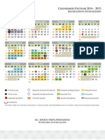 Calendario Escolarizado 2014 2015 SEMSYS 1 Julio