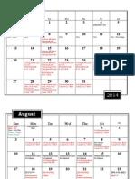 2014-2015 Fine Arts Calendar