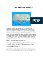 What is a High-rate Battery