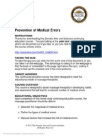 FMT001 Prevention of Medical Errors