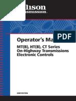 Allison at MT HT Transmission Electronic Controls Operators Manual