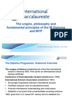 Theorigins philosophy and fundamental principles of the IB Diploma and MYP