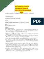 Ley Organica de Aduanas Área Comercio Exterior