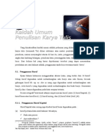 Bab-5 Kaidah Umum Penulisan Karya Tulis