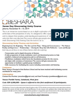 Beshara SEA 7-Day Discovering Unity Course - Nov8-15 2014