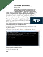 Como Configurar Virtual WiFi en Windows