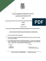 Soalan k1 Sains Trial Jhr Spm 2014