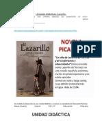 Unidades Didácticas - Lazarillo de Tormes