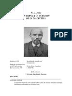 En Torno a La Cuestión de La Dialéctica Por Lenin