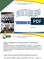 Proyecto Educativo Memorias de Mi Escuela
